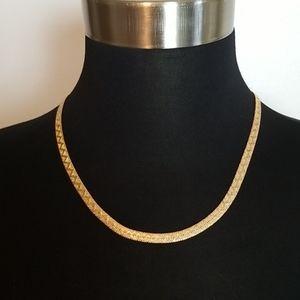 Vintage Napier Gold Zig Zag Chain Necklace